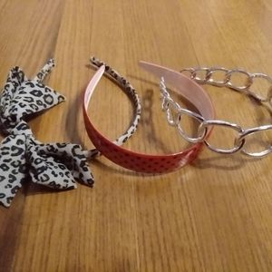 3 assorted headbands